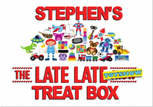 4 Large Personalised Late Late Toy Show Treat Stickers